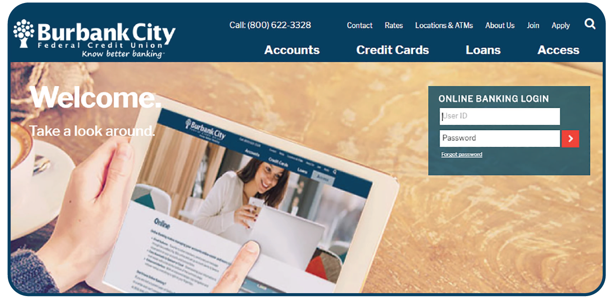 Image showing the new Online Banking Login Box